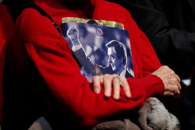 Au meeting de François Fillon, samedi 4 mars à Aubervilliers. © Reuters