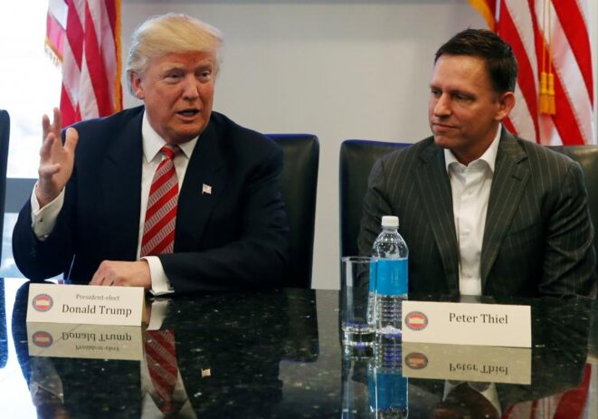 Donald Trump et Peter Thiel, le 14 décembre 2016 © Reuters