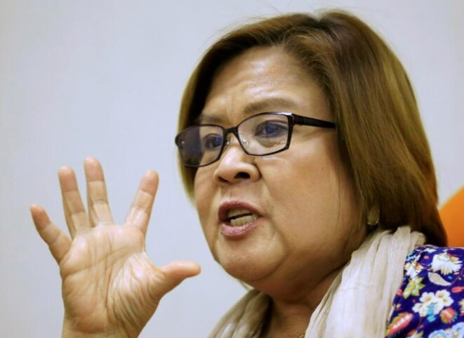 La sénatrice Leila de Lima, ancienne présidente de la Commission nationale des droits de l'homme. © Reuters