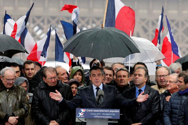 Rassemblement du Trocadéro, le 5 mars © Reuters