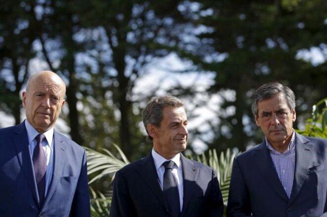 Alain Juppé, Nicolas Sarkozy et François Fillon, le 5 septembre 2015. © Reuters