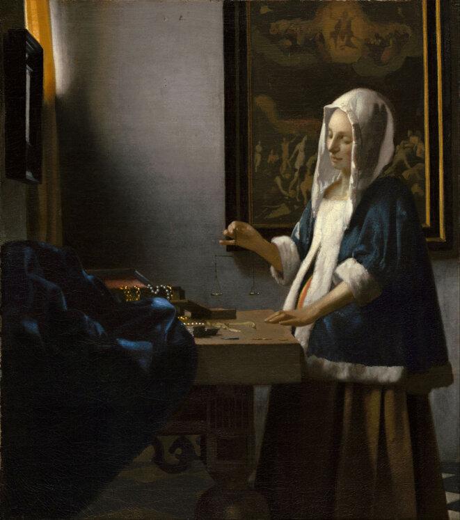 Vermeer La peseuse de perles