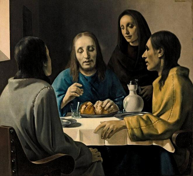 Faux Vermeer de Van Meegeren Le repas d'Emmaüs