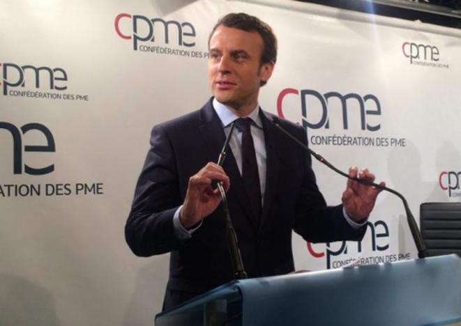 Emmanuel Macron débat à la CMPE, lundi 6 mars © Bactiactu