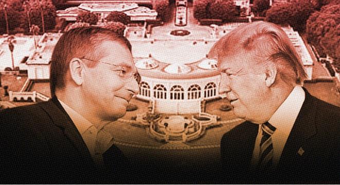 Dmitri Rybolovlev et Donald Trump (photomontage) © Capture d'écran de Daily Kos