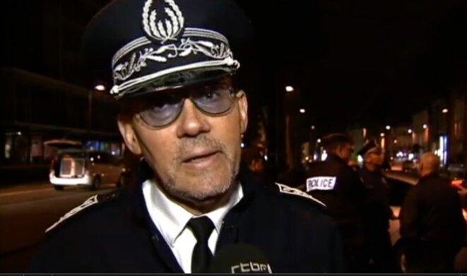 Le commissaire divisionnaire Philippe Patisson, lors d'une opération de police en Belgique. © DR