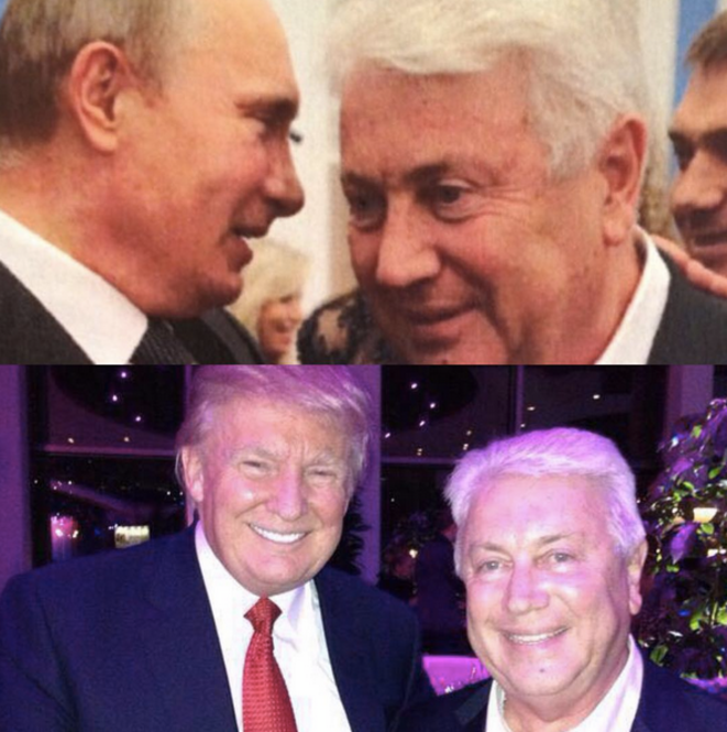 L'acteur et humoriste Vladimir Vinokur en compagnie de Poutine et Trump © Compte Instagram de Vladimir Vinokur