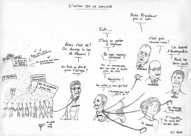 L'union de la Gauche © Gil Delhoume