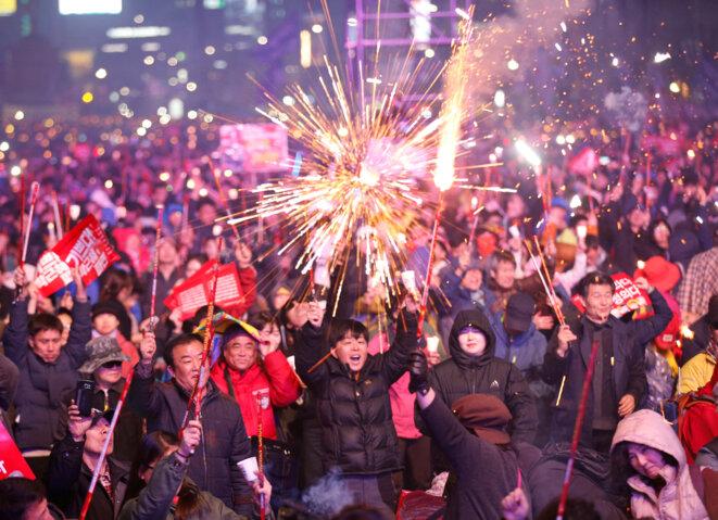 Célébrations à Séoul après la destitution de la présidente © Reuters