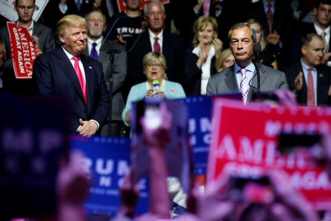 Nigel Farage lors d'un meeting de campagne de Donald Trump dans le Mississippi, aux États-Unis, le 24 août 2016 © Reuters - Carlo Allegri