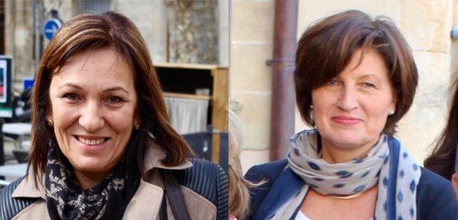 Patricia Garnero (UDI) et Muriel Dherbecourt (LR) © Thierry Allard / Objectif Gard