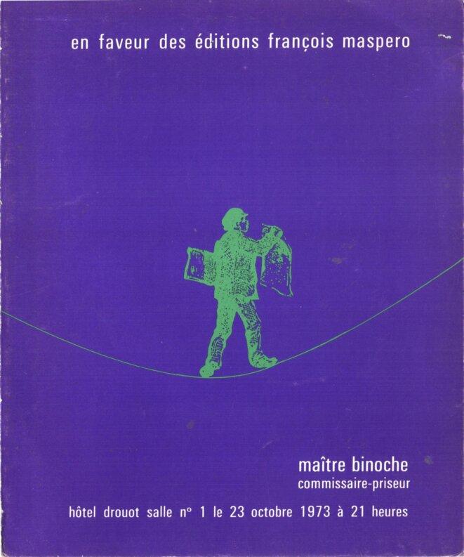 Vente de solidarité en faveur des éditions Maspero 1973 Drouot © Editions Maspero