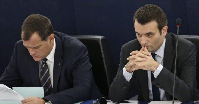Louis Aliot et Florian Philippot au Parlement européen © Reuters