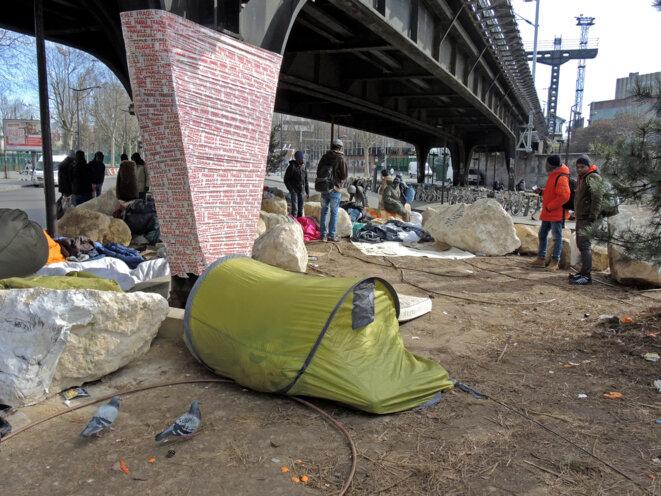 Le pont fragile - 25 février 2017 © Gilles Walusinski
