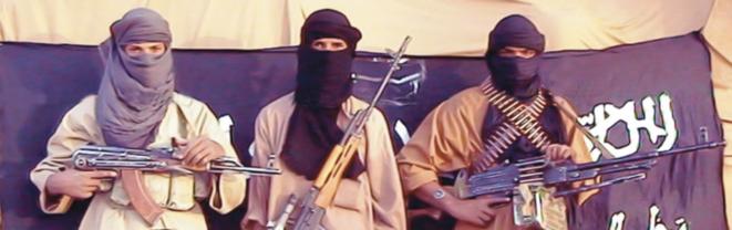 Djihadistes d'AQMI dans une vidéo de propagande. © DR