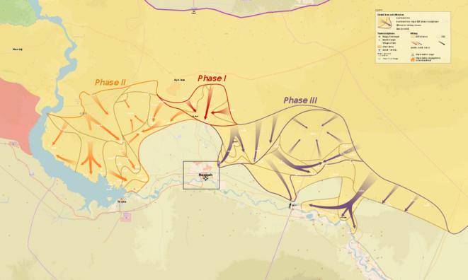 """la situation de l'opération """"colère de l'Euphrate"""" à la mi-Mars via Wikipédia"""
