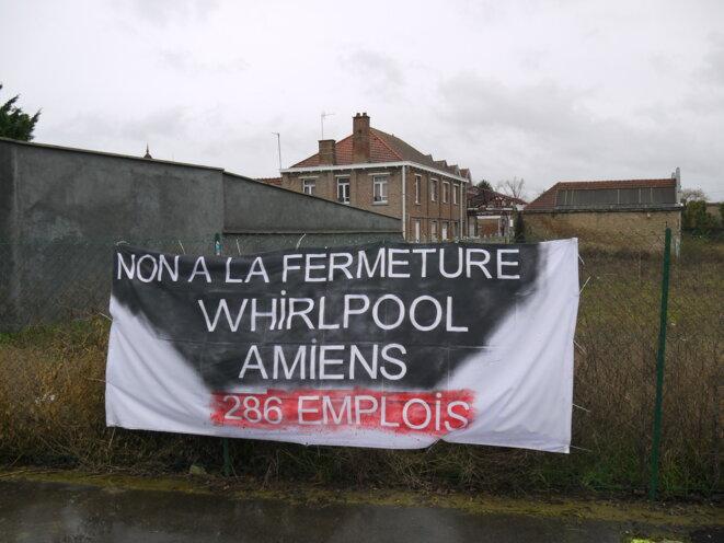 À quelques mètres de l'usine Whirlpool, à Amiens. © Dan Israel