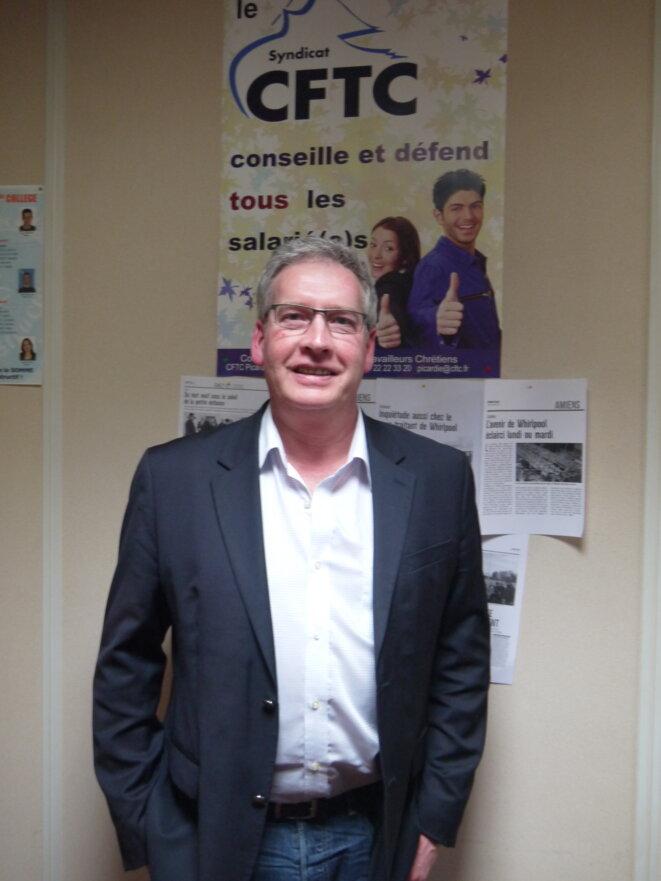 Philippe Théveniaud, dirigeant de la CFTC dans la Somme. © D.I.