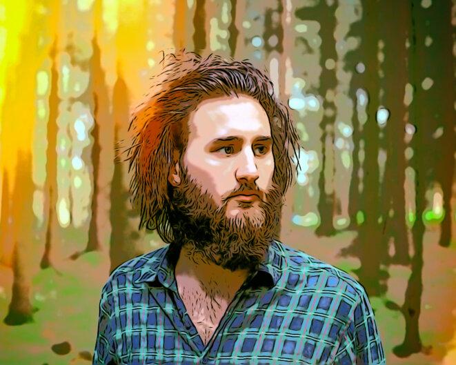 Jean Rondeau dans les bois pendant que le loup y est pas