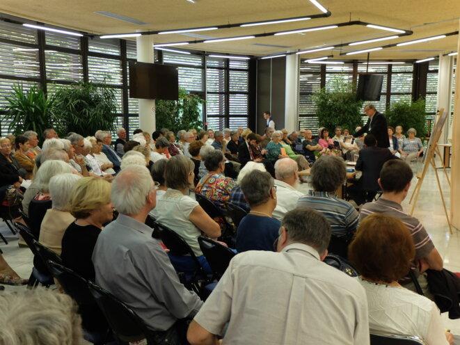 Conférence de J.-L. Romero, à Auch, en septembre 2016 [Ph. YF]