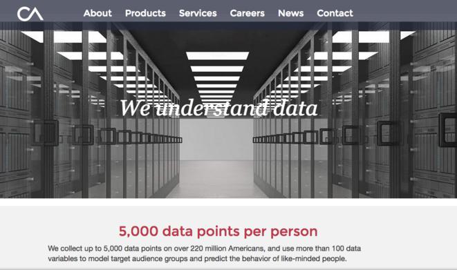 Le site de Cambridge Analytica