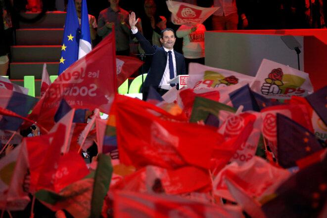 Benoît Hamon dimanche à Bercy © Reuters