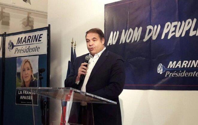 Axel Loustau, trésorier du microparti de Marine Le Pen © Compte Facebook d'Axel Loustau.