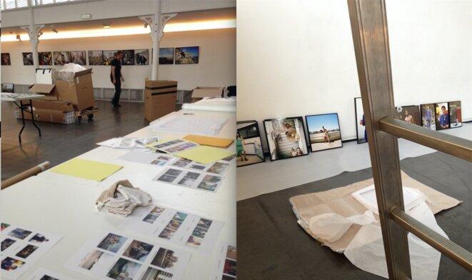 Montage de l'exposition, lundi 20 mars 2017