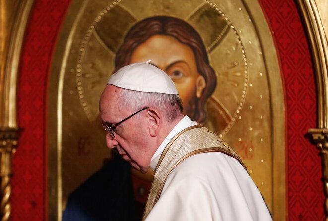 Le pape François, le 26 février 2017, à Rome. © Reuters