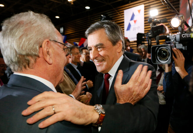 François Fillon en meeting à Lyon © Reuters
