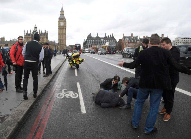 Sur le pont de Westminster, mercredi 22 mars. © Reuters