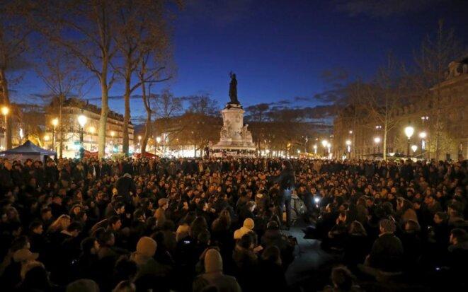 Un rassemblement de Nuit debout en mai 2016, place de la République à Paris © Reuters