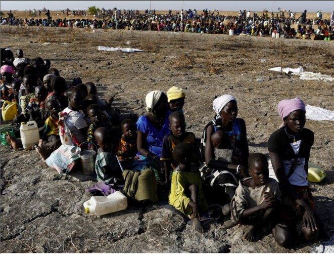 Au Sud-Soudan, le 26 février 2017. Distribution de nourriture par un fonds des Nations unies © Siegfried Modola / Reuters