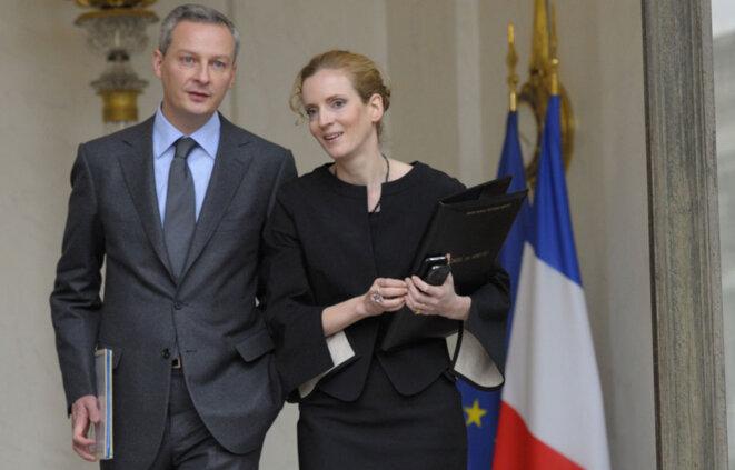 Bruno Le Maire et Nathalie Kosciusko-Morizet. © Reuters