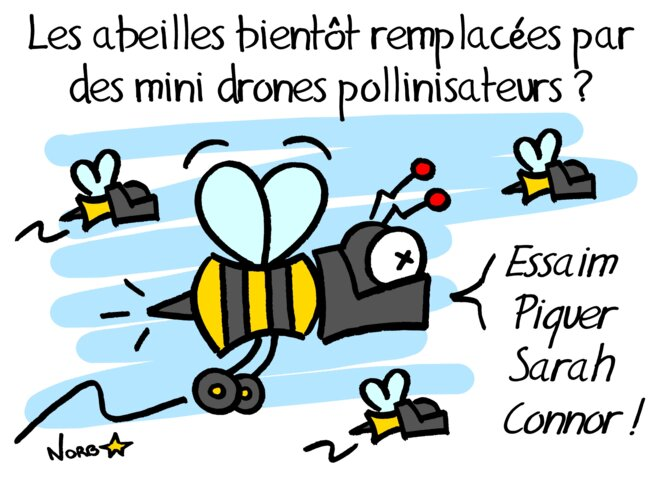 Des robots pour remplacer les abeilles © Norb
