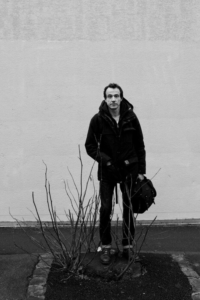 Le premier marcheur-photographe, Bertrand Meunier, est parti de Montreuil le 1er mars 2017. © © Meyer / Tendance Floue