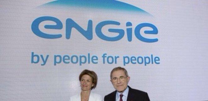 Isabelle Kocher, directrice générale, et Gérard Mestrallet, président du conseil d'Engie © DR