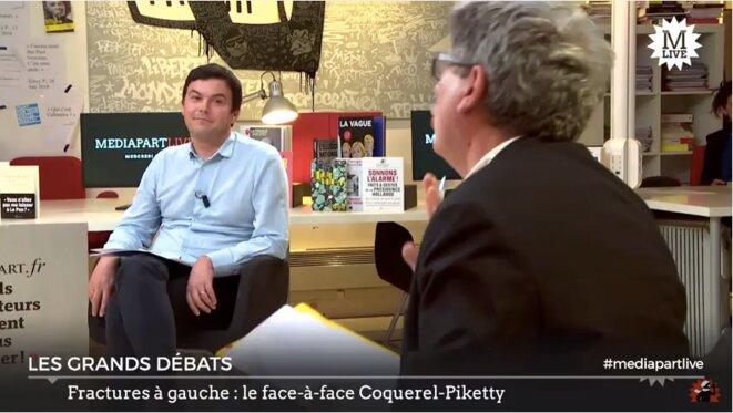 Thomas Piketty et Éric Coquerel
