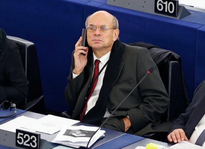 Jean-Luc Schaffhauser, le 27 novembre 2014, au Parlement européen, à Strasbourg. © Reuters
