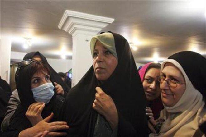 Faezeh Rafsandjani, lors d'une manifestation en 2012. © Reuters