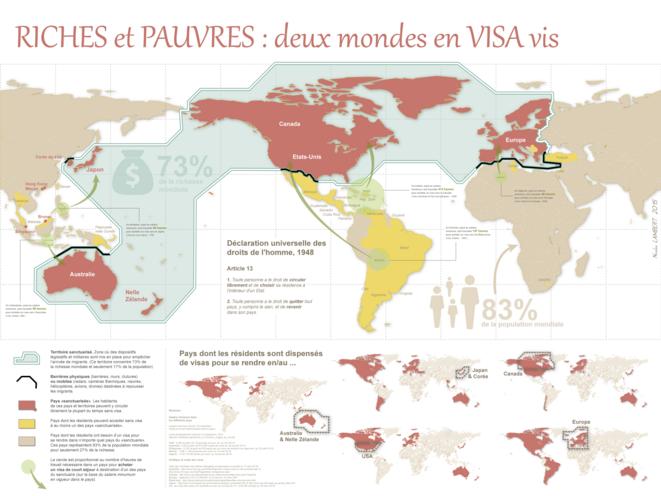 Riches et pauvres, deux mondes en visa vis © Nicolas Lambert