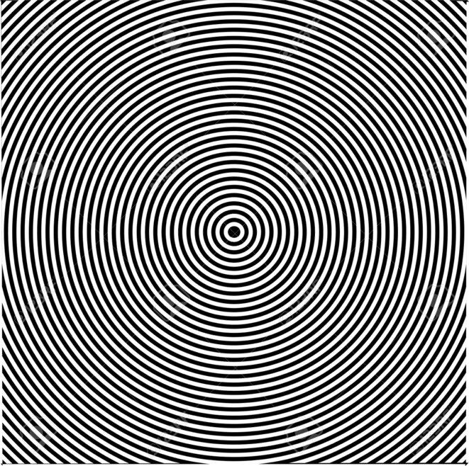a-black-and-white-circles-vertigo-efect-stock-vector