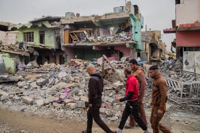 Dans le quartier de Wadi Hajar, la maison de la famille de Saddam et Saïf Mustafa, détruite par une frappe le 28 février. © Jérémy André