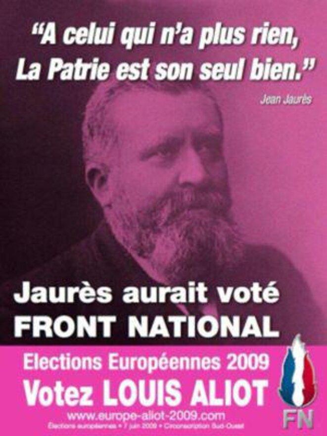 Affiche électorale du FN
