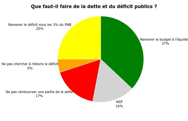 Cadre budgétaire désiré pour la France. Question posée à un échantillon représentatif de 356 Français à l'automne 2016. © adrien-fabre.com/sondage