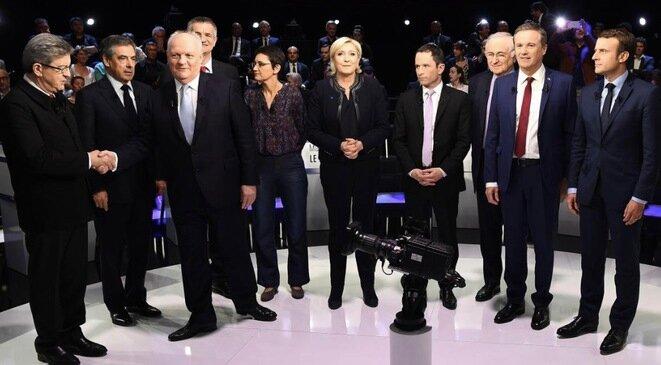 Antes del debate, el martes 4 de abril de 2017. © Reuters