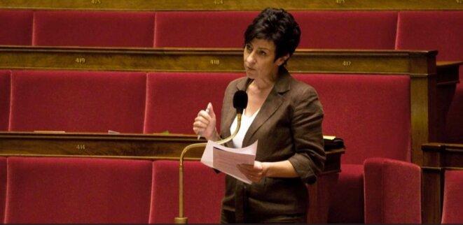 Catherine Lemorton à l'Assemblée nationale. © DR