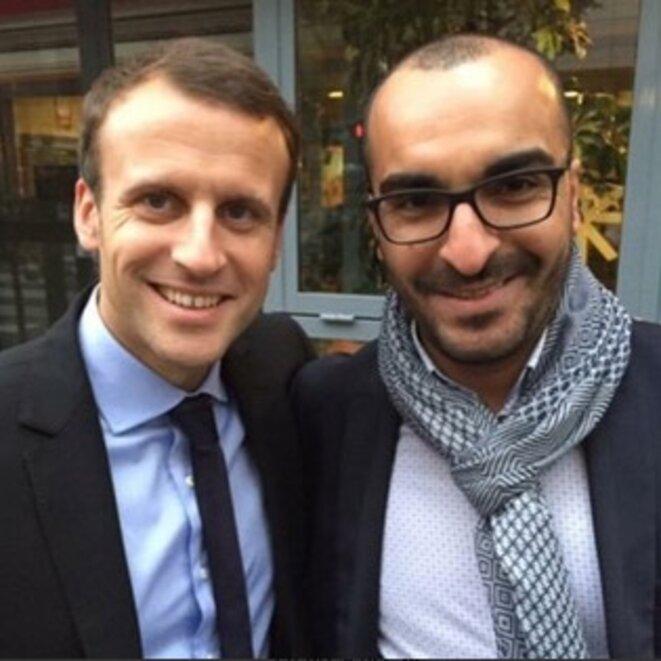 Emmanuel Macron et Mohamed Saou © DR