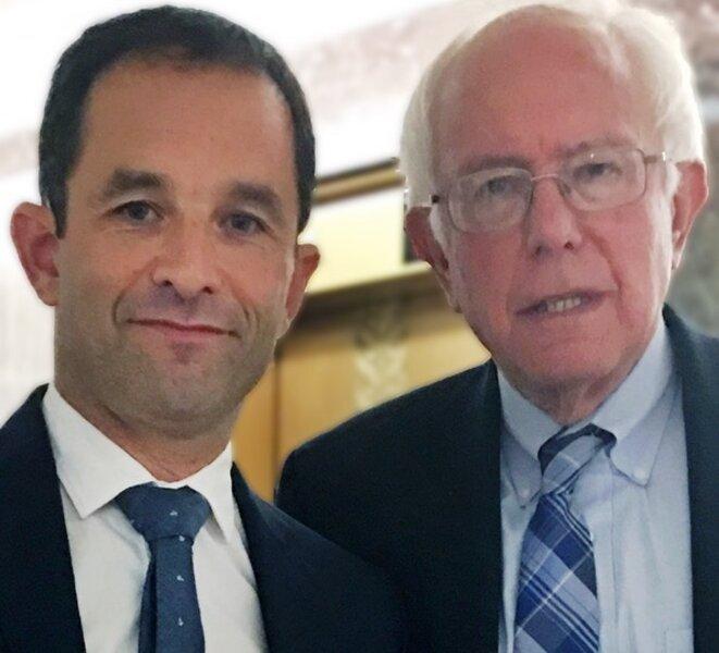 Benoît Hamon et Bernie Sanders, le 21 septembre 2016