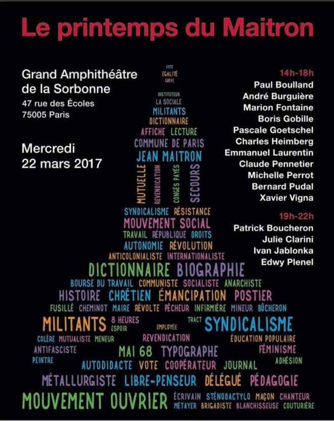 Le Printemps du Maitron, Paris, Sorbonne, 22 mars 2017